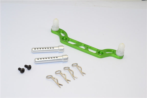 HPI Crawler King Aluminum Front Body Mount With Delrin Posts - 1Pc Set Green