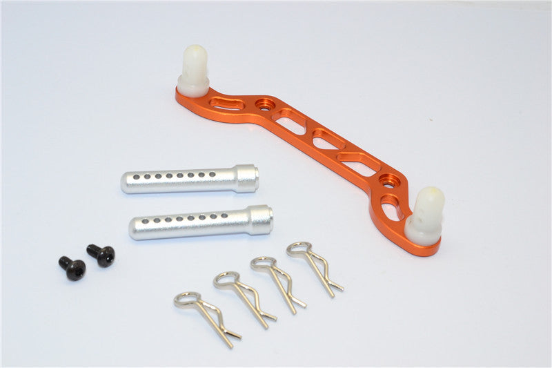 HPI Crawler King Aluminum Front Body Mount With Delrin Posts - 1Pc Set Orange