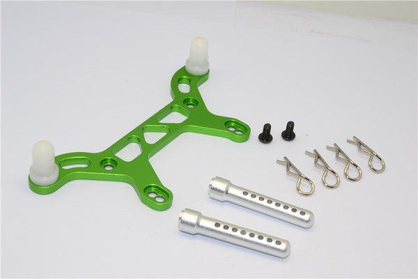 HPI Crawler King Aluminum Rear Body Mount With Delrin Posts - 1Pc Set Green