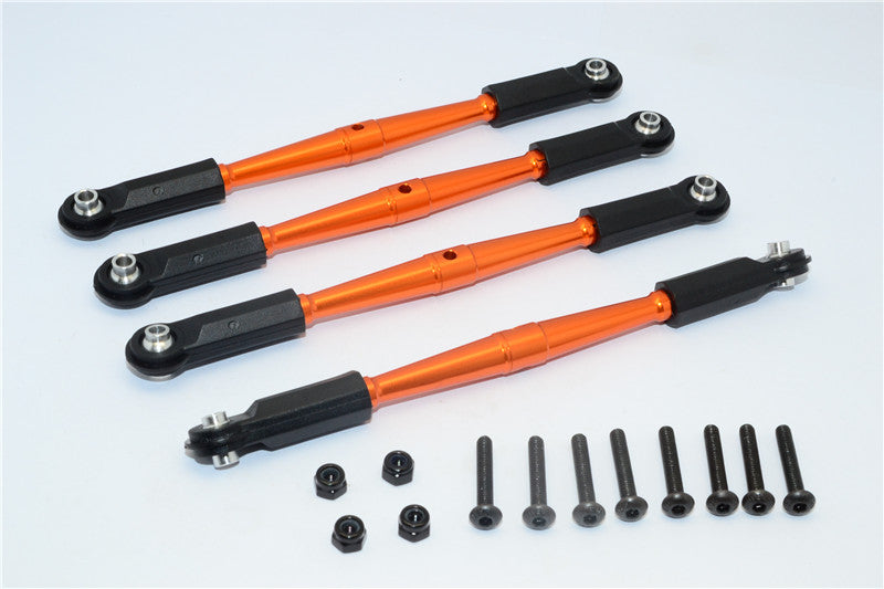 HPI Crawler King Aluminum Front+Rear Anti-Thread Link Parts (295mm Wheelbase) - 4Pcs Set Orange