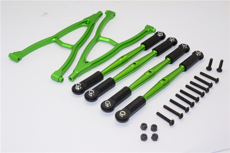 HPI Crawler King Aluminum Front+Rear Y Plate & Link Parts (For 295mm Wheelbase) - 6Pcs Set Green