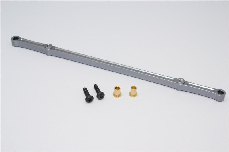 HPI Crawler King Aluminum Front/Rear Steering Tie Rod - 1Pc Set Gray Silver
