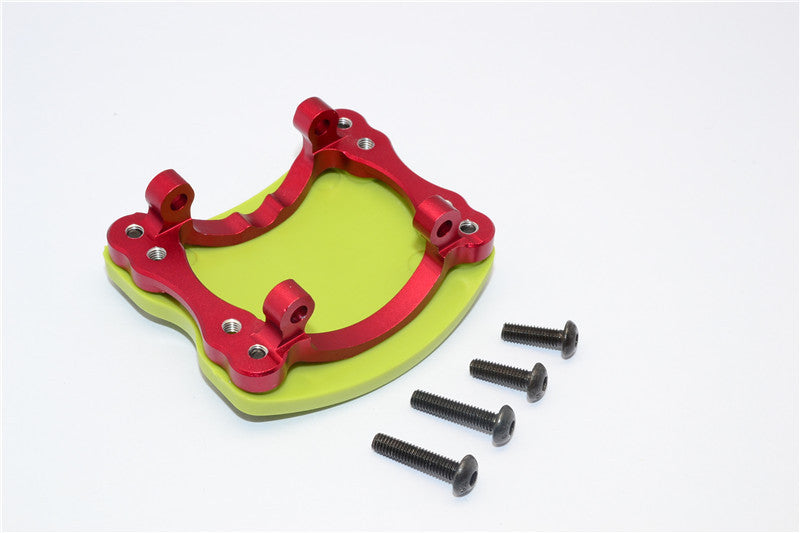 HPI Crawler King Aluminum+Plastic Front/Rear Axle Protector Mount - 1 Set Red