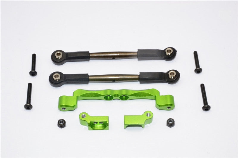 Traxxas Craniac Aluminum Front Mount Holder & Spring Steel Tie Rod - 1 Set Green