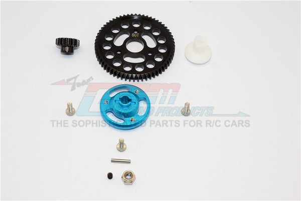 Traxxas Craniac Aluminum Spur Gear Adapter+Steel Gear 60T & 16T - 1 Set Sky Blue