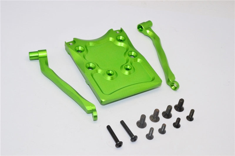 Traxxas Craniac Aluminum Rear Skid Plate - 3Pcs Set Green