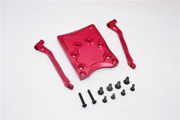 Traxxas Craniac Aluminum Rear Skid Plate - 3Pcs Set Red
