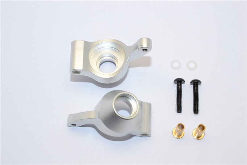 Tamiya DF-02 Aluminum Rear Knuckle Arm - 1Pr Silver