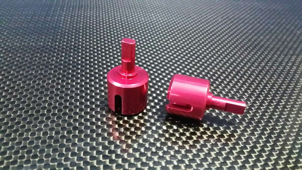 Tamiya DF-02 Aluminum Gear Box Differential Joint - 1 Pr Red