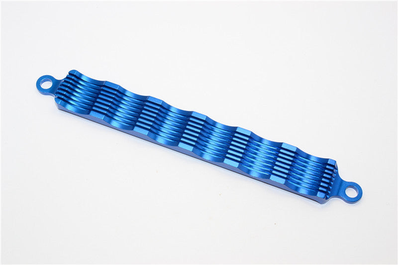 Tamiya DF-02 Aluminum Battery Holder With Heat Sink - 1Pc Blue