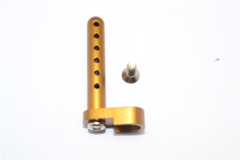 Tamiya DF-02 Aluminum Rear Body Post With Screw - 1Pc Set Golden Black