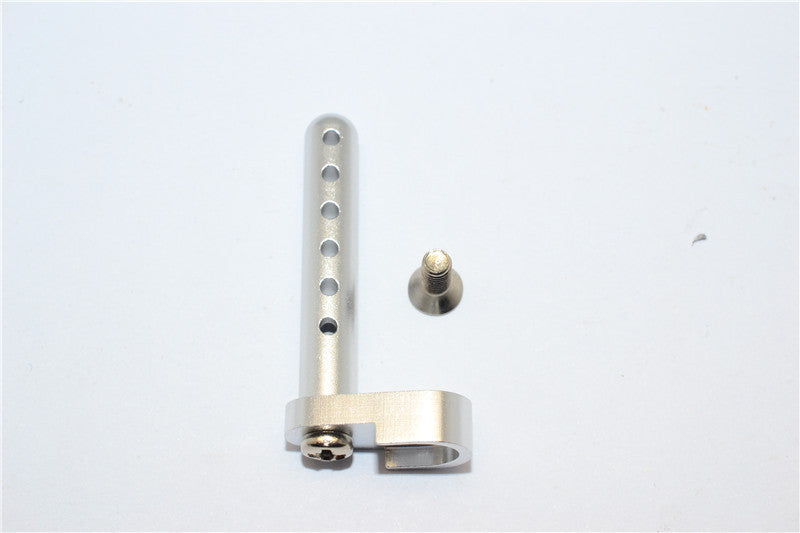 Tamiya DF-02 Aluminum Rear Body Post With Screw - 1Pc Set Silver