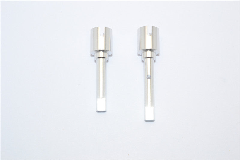 Tamiya DF-02 Aluminum Main Shaft Connectors - 1Pr Silver