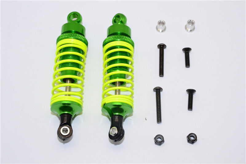 Tamiya DF-02 Aluminum Front Adjustable Spring Damper (75mm) With Aluminum Collars & Screws - 1Pr Set Green