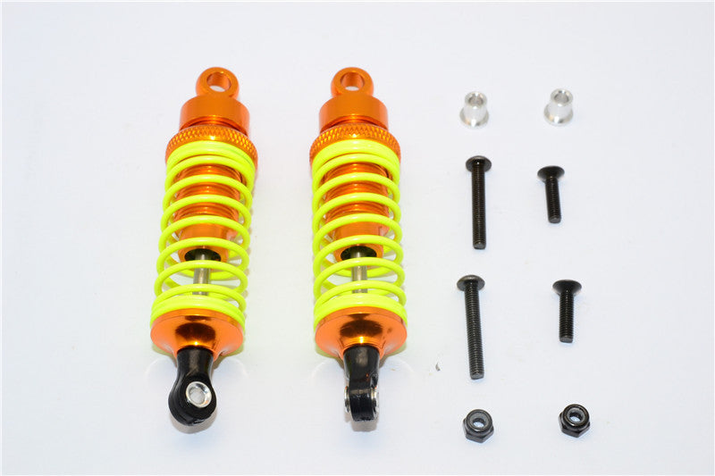 Tamiya DF-02 Aluminum Front Adjustable Spring Damper (75mm) With Aluminum Collars & Screws - 1Pr Set Gold