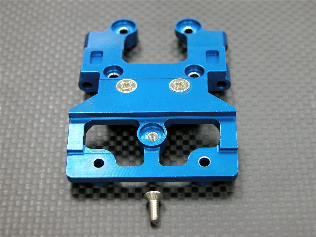 Tamiya DF-03 Aluminum Front Gear Box Lower Mount With Screws - 1Pc Set Blue