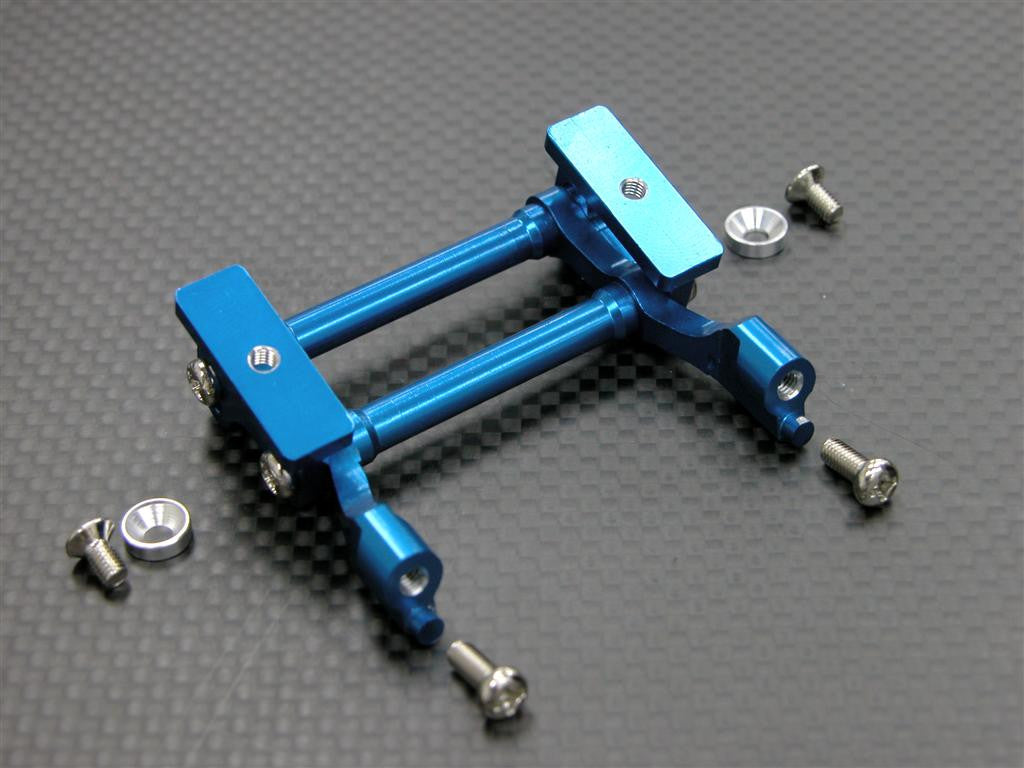 Tamiya DF-03 Aluminum Rear Wing Mount With Screws & Shims - 1 Set blue