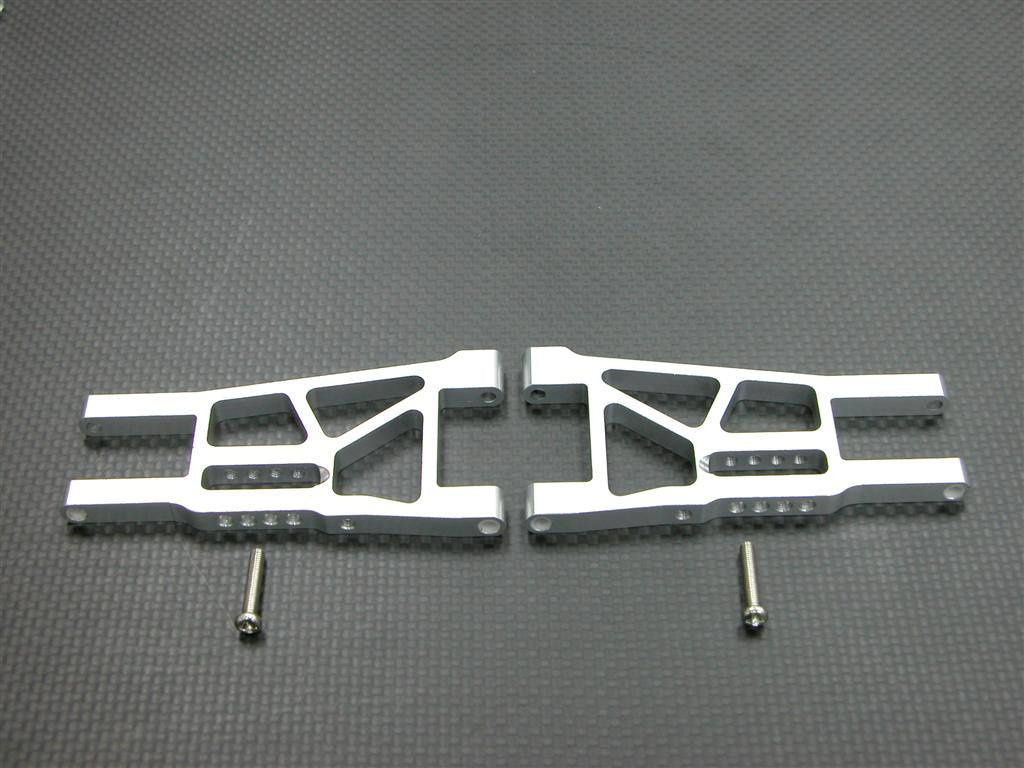 Tamiya DF-03 Aluminum Front Lower Arm With Screws - 1Pr Set Silver