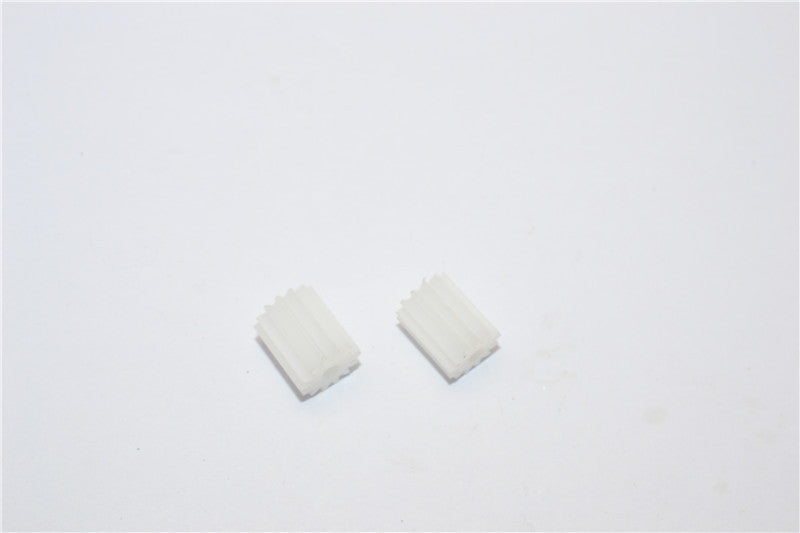 Kyosho Motorcycle NSR500 Delrin Motor Gear (13T, 14T) - 2Pcs Set (Suitable For Team Losi Mini-T) White