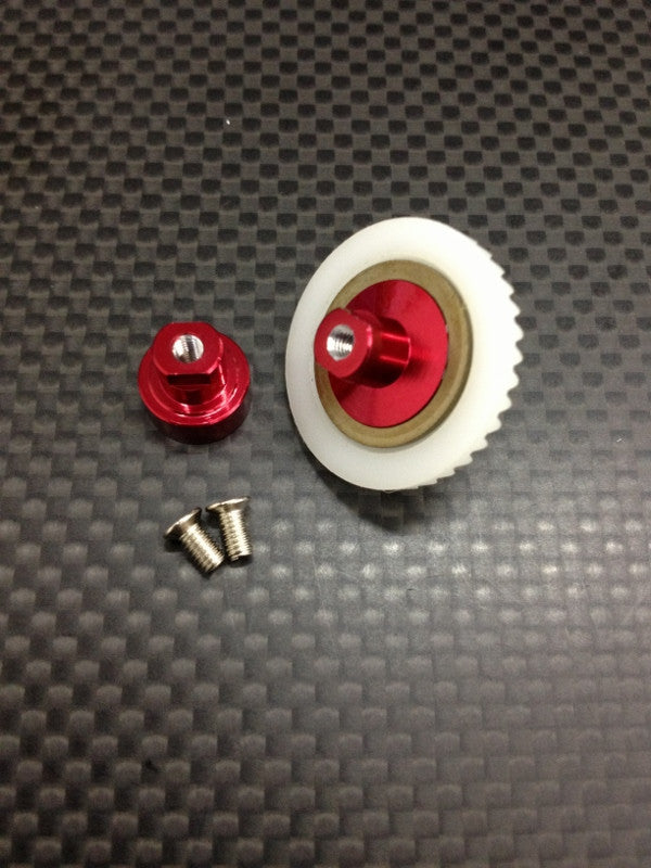 Kyosho Mini Inferno Delrin Front/Rear Ball Differential With Screws - 1 Completed Set Red