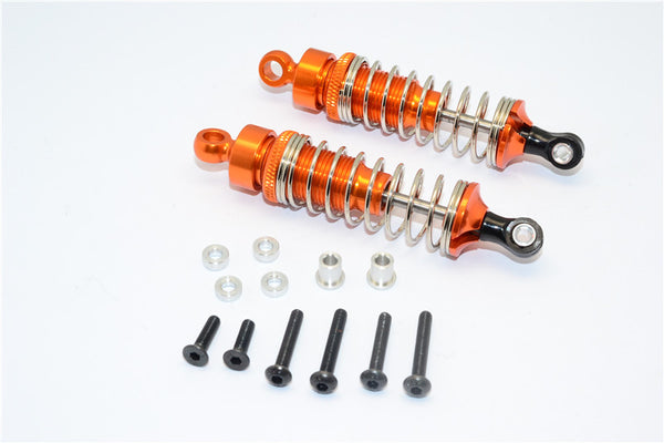 1/10 Touring - Aluminum Ball Top Damper (70mm) With Aluminum Collars & Washers & Screws - 1Pr Set Orange - JTeamhobbies