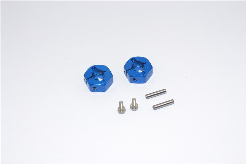 Tamiya DT-03 Aluminum Rear Wheel Hex Adapter - 2Pcs Set Blue