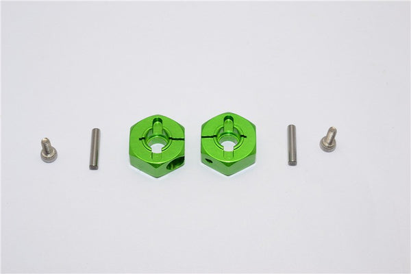 Tamiya DT-03 Aluminum Rear Wheel Hex Adapter  - 2Pcs Set Green