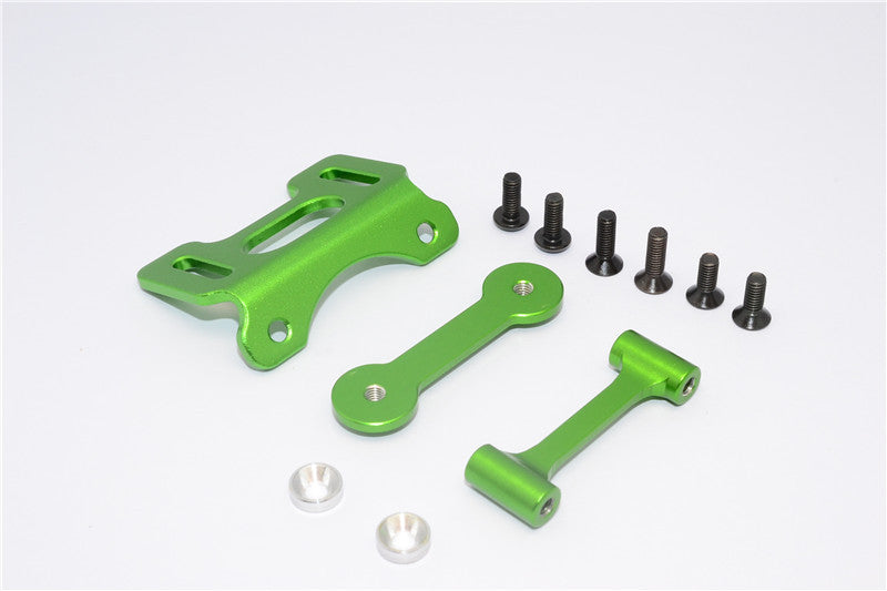Tamiya DT-03 Aluminum Adjustable Wing Mount - 1 Set Green