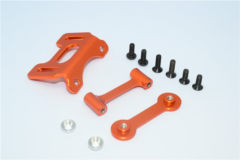 Tamiya DT-03 Aluminum Adjustable Wing Mount - 1 Set Orange
