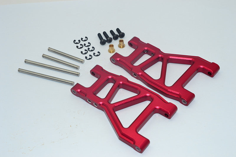 Tamiya DT-03 Aluminum Rear Lower Suspension Arm - 1Pr Red