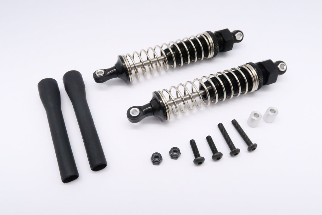 Tamiya DT-03 Aluminum Rear Adjustable Plastic Ball Top 90mm Damper - 1Pr Set Black