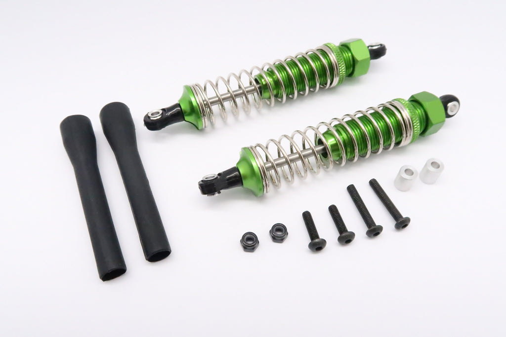 Tamiya DT-03 Aluminum Rear Adjustable Plastic Ball Top 90mm Damper - 1Pr Set Green