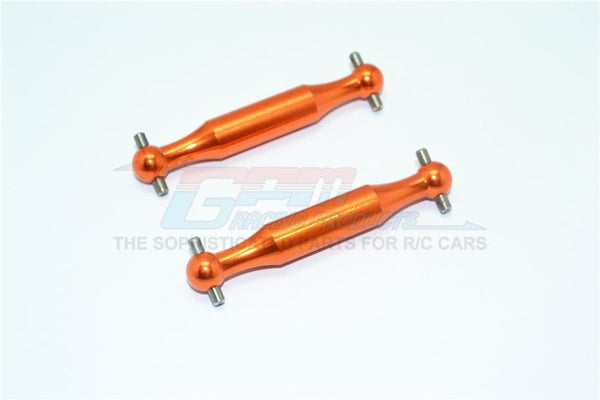 Tamiya DT-03 Aluminum Rear Dogbone (Polished) - 2Pcs Set Orange