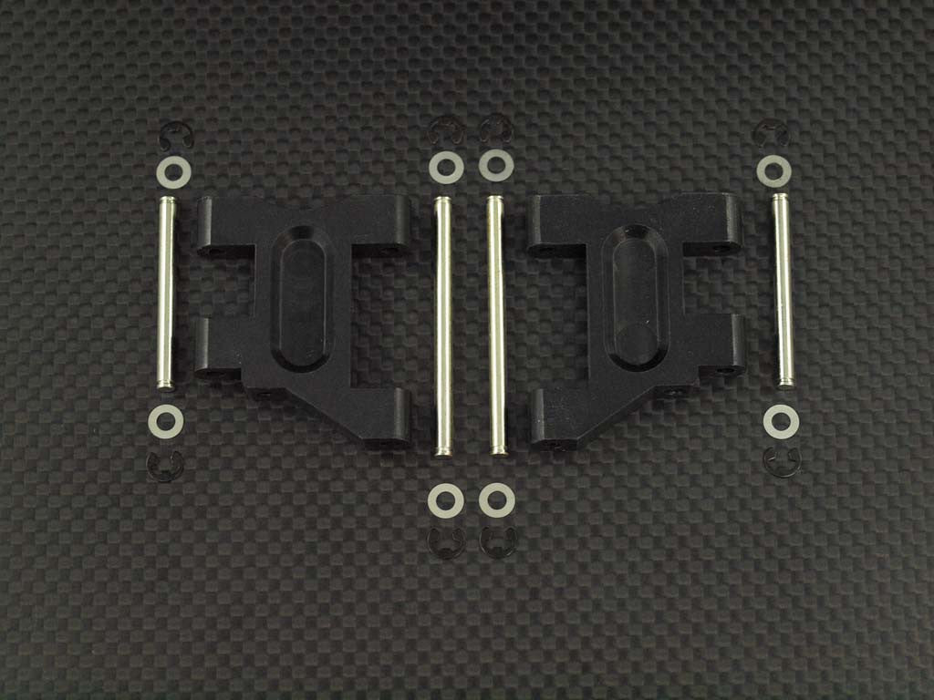 Tamiya TL01 Delrin Front Arm With Pins Set - 1Pr Black