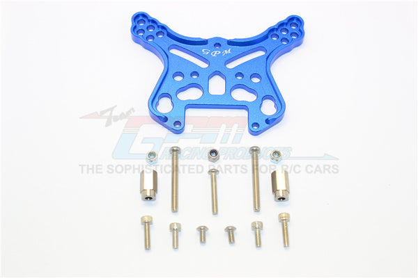 Team Magic E6 III HX (TM505005) Aluminum Front Or Rear Adjustable Damper Mount - 1Pc Blue