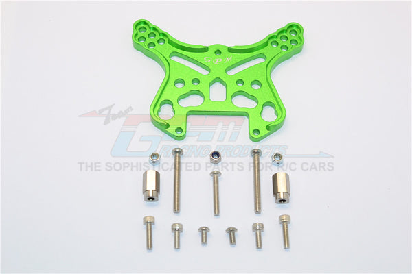 Team Magic E6 III HX (TM505005) Aluminum Front Or Rear Adjustable Damper Mount - 1Pc Green