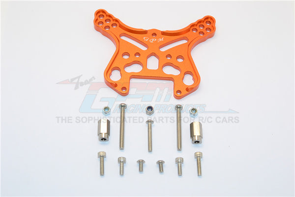 Team Magic E6 III HX (TM505005) Aluminum Front Or Rear Adjustable Damper Mount - 1Pc Orange