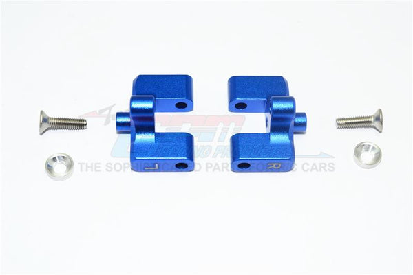 Team Magic E6 III HX Aluminum Rear Wing Mount - 1Pr Set Blue