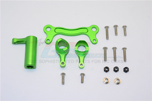Team Magic E6 III HX Aluminum Steering Assembly - 1 Set Green