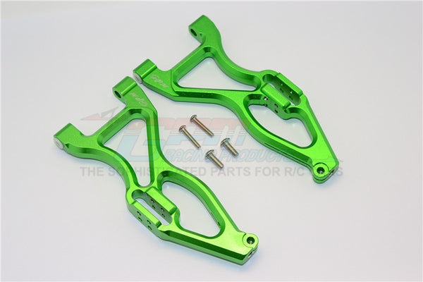 Team Magic E6 III HX Aluminum Front Or Rear Lower Suspensison Arms - 1Pr Set Green