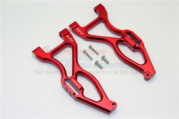 Team Magic E6 III HX Aluminum Front Or Rear Lower Suspensison Arms - 1Pr Set Red