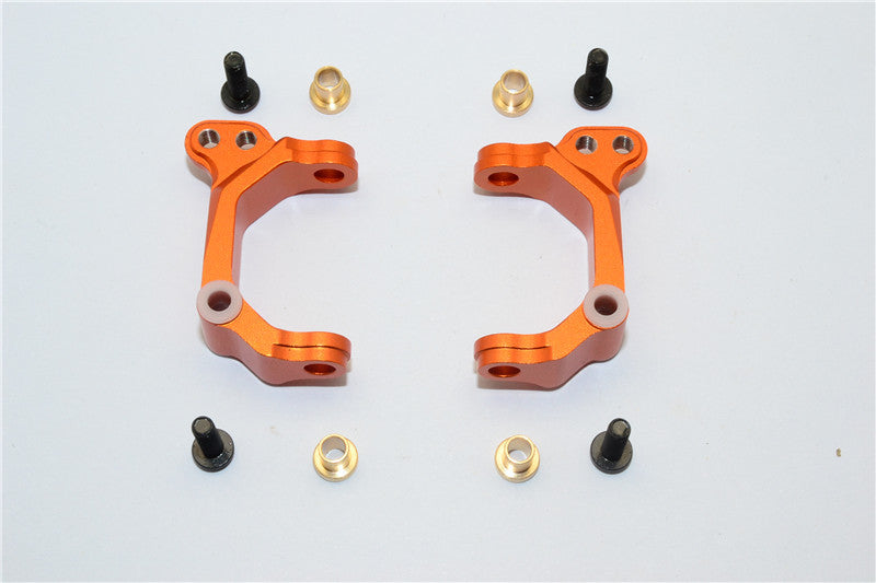 HPI E-Firestorm Flux Aluminum Front C Hub - 1Pr Set Orange