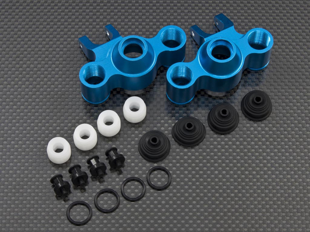 Traxxas E-Maxx 2 Aluminum Front/Rear Knuckle Arm - 1Pr Set Blue