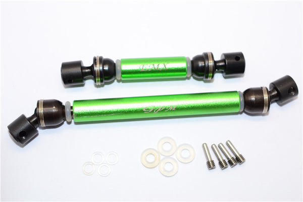 Traxxas E-Maxx 2 Steel + Aluminum Front / Rear Main Shafts - 1 Set Green