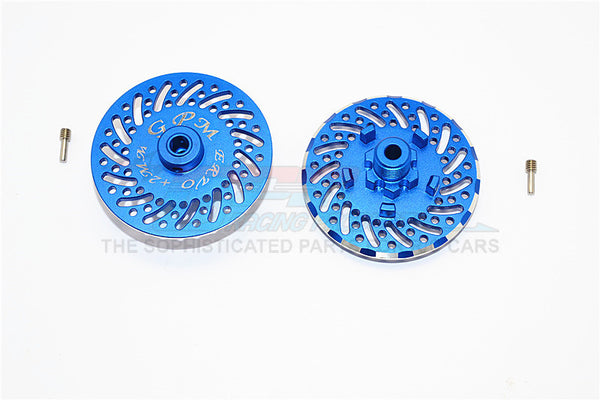 Traxxas E-Revo Brushless Edition Aluminum Wheel Hex Claw +2mm With Brake Disk - 2Pcs Set Blue