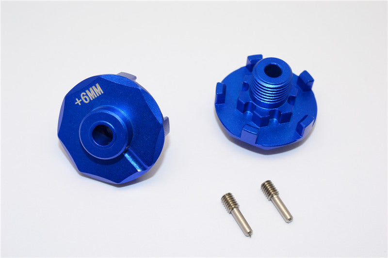Traxxas E-Revo Brushless Edition Aluminum Wheel Hex Claw (+6mm) - 2Pcs Blue