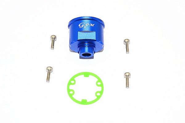 Traxxas E-Revo Aluminum Front/Rear Differential Carrier - 1Pc Set Blue