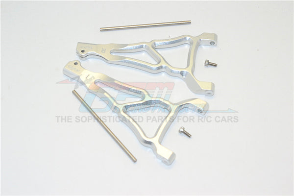 Traxxas E-Revo Brushless Edition Aluminum Front Upper Suspension Arm - 1Pr Set Silver