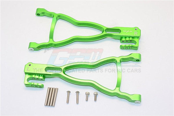 Traxxas E-Revo Brushless Edition Aluminum Rear Lower Suspension Arm - 1Pr Set Green