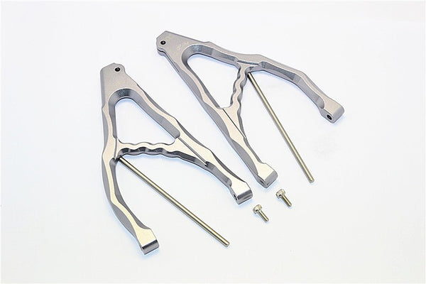 Traxxas E-Revo Brushless Edition Aluminum Rear Upper Suspension Arm - 1Pr Set Gray Silver